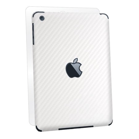 BodyGuardz Armor Carbon Fiber Full Body Stylish Protection Film for Apple iPad mini/mini 2/mini 3 - White (BZ-ACWIM-0912)