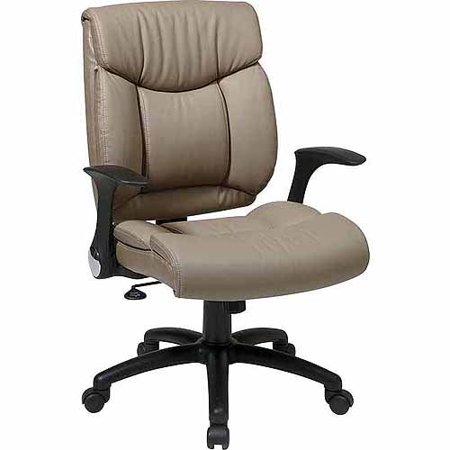 Office Star Worksmart Faux Leather Managers Office Chair With Flip Arms Wal