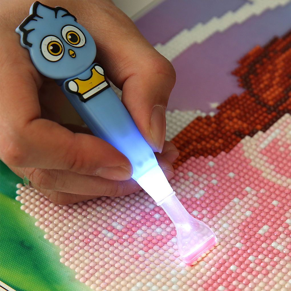 5D Rhinestone Painting Cross-stitch Single Head Point Drill Pen Embroidery Drawing Sticky Dotting DIY Tool