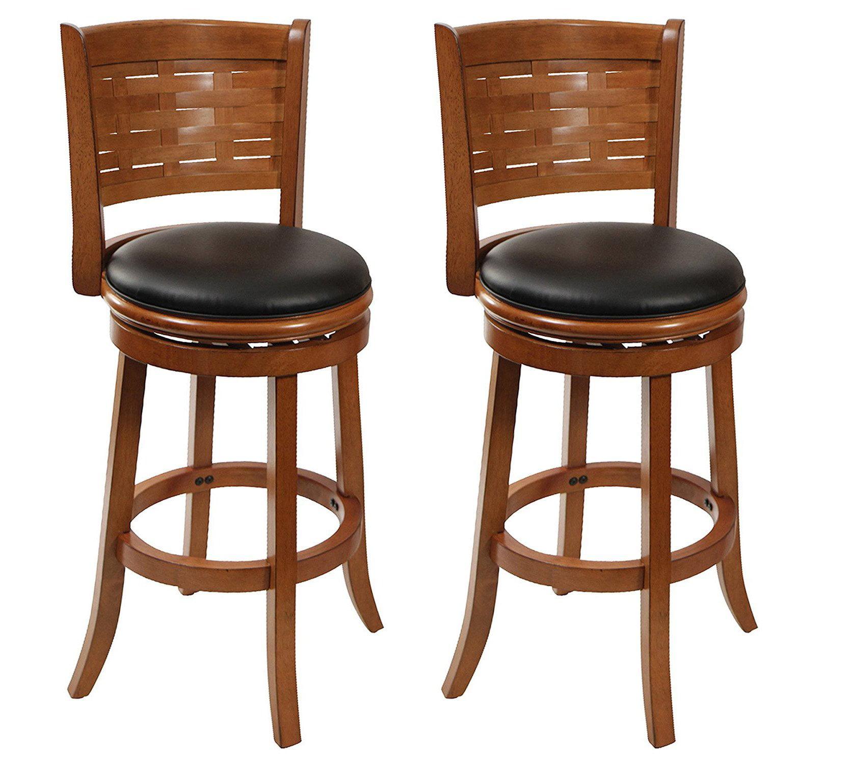 Sensational Boraam 29 Countertop Sumatra Faux Leather Swivel Bar Stool Brush Oak 2 Pack Caraccident5 Cool Chair Designs And Ideas Caraccident5Info