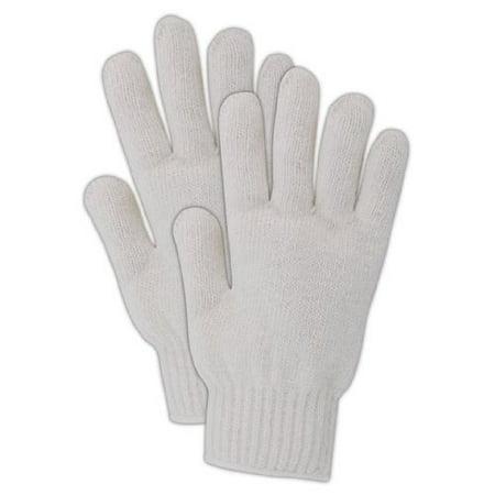 Case of 12 - Cotton/Polyester Heavyweight Machine Knit Glove, Work, 7 gauge Thickness, 9-1/2