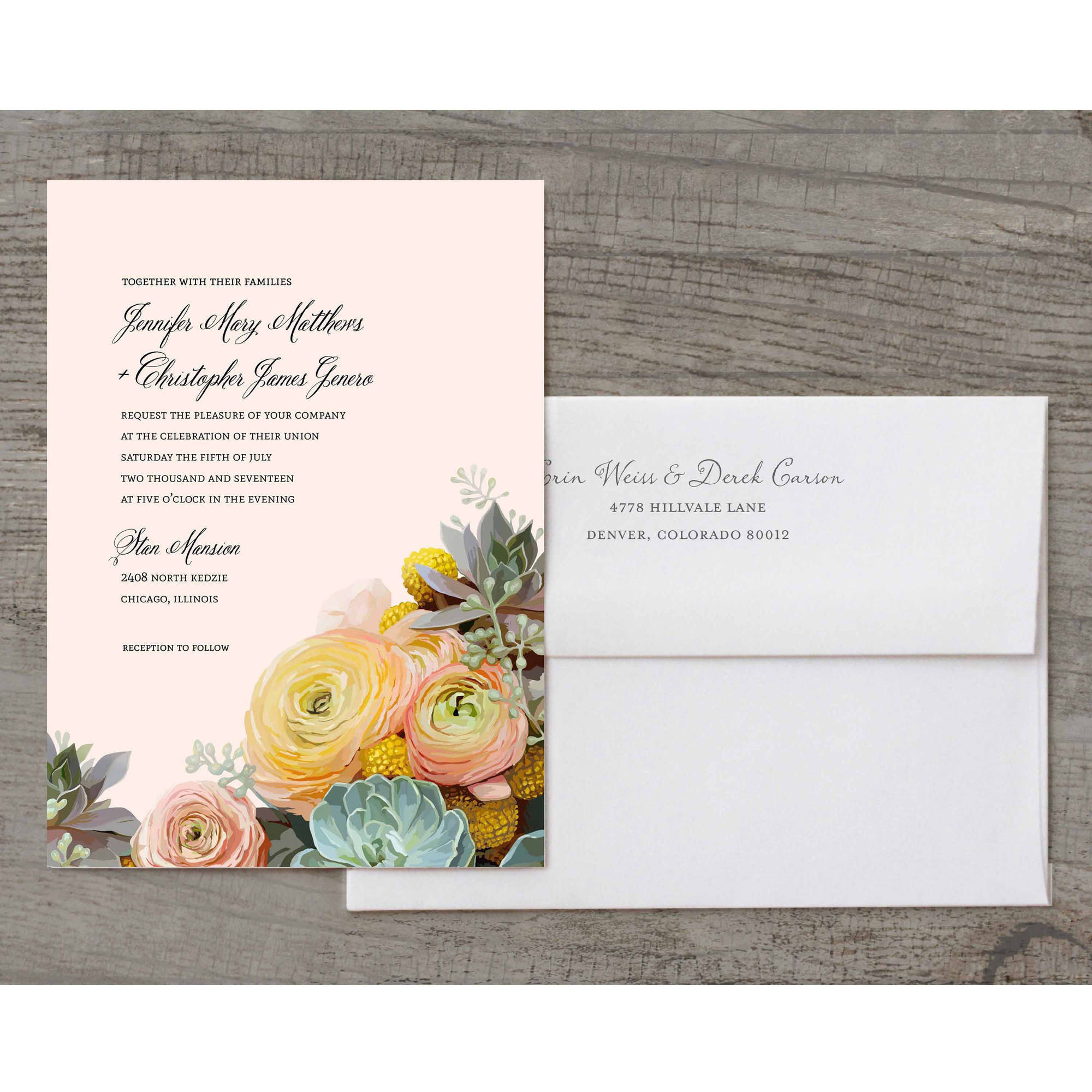 Bouquet Deluxe Wedding Invitation