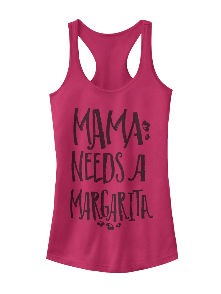 CHIN UP Margaritas Made Me Do It Womens Graphic Racerback Tank