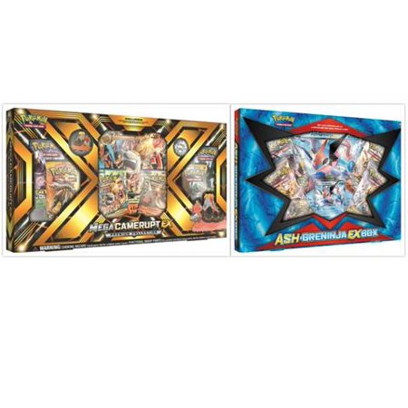 pokemon mega camerupt ex premium collection box and ash greninja ex
