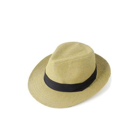 Zodaca Floppy Straw Summer Sun Hat Fedora for Girl Lady Women Unisex Men Trendy Basic cowboy Fashion Stylish Outdoor Brimmed Brim Beach Cap