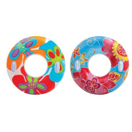 Intex Groovy Color Inflatable Tropical Flower Transparent Tube (2 Pack) 58263EP - image 7 de 7