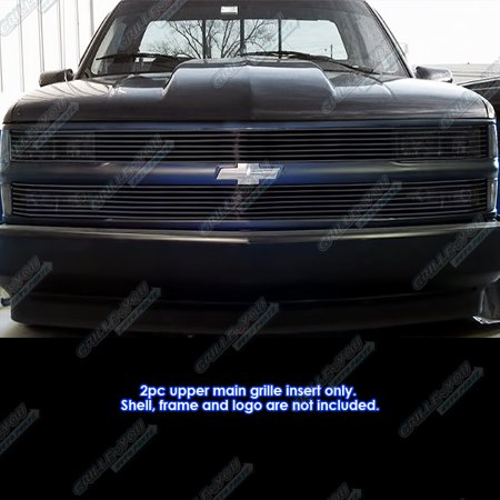 Compatible with 1994-1999 C K Pickup Suburban Blazer Tahoe Phantom Black Billet Grille Grill Insert C85211H