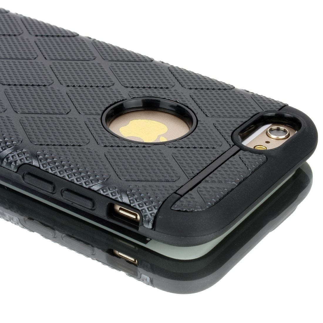 Shockproof Rugged Hybrid Rubber Hard Cover Case for Apple iPhone 6 Black