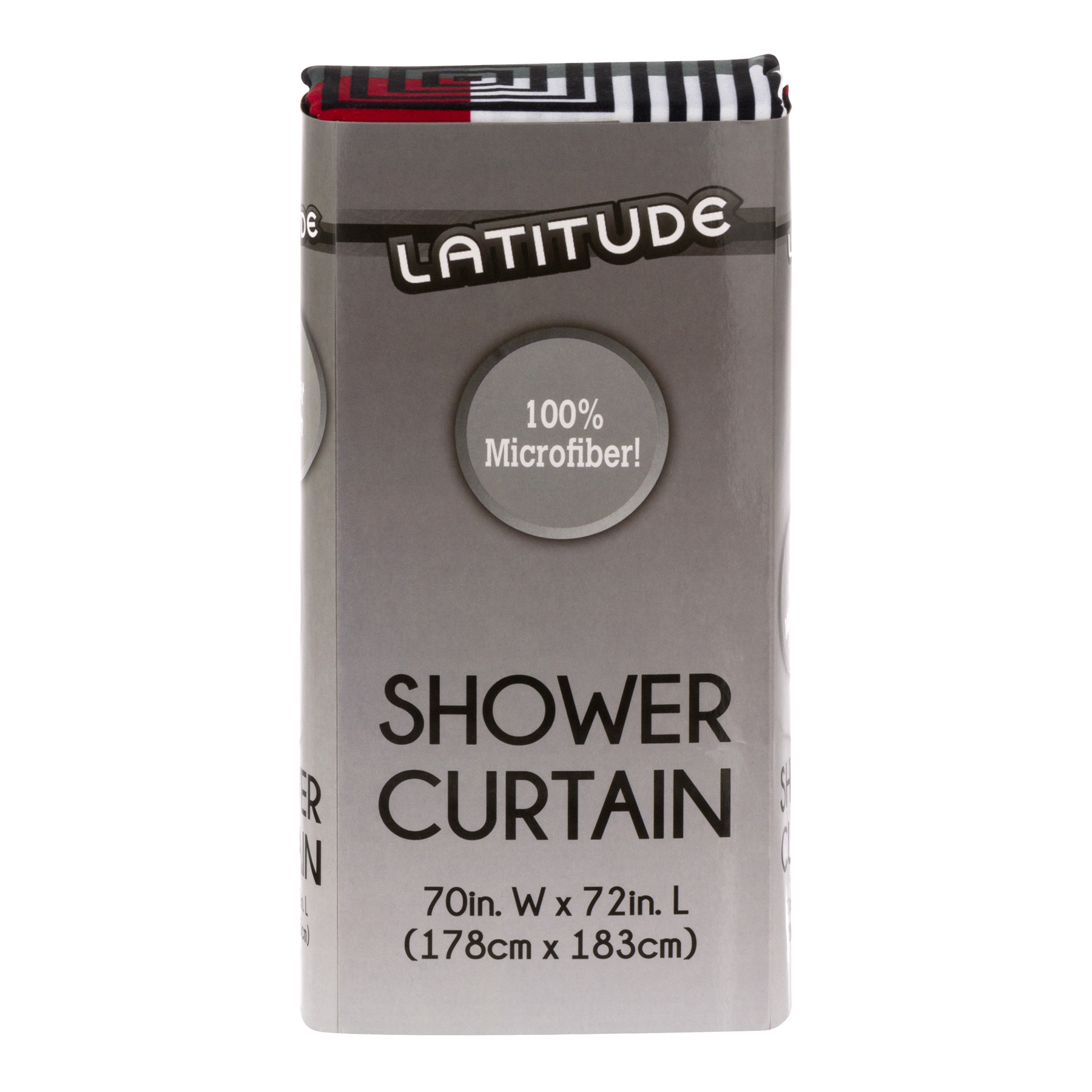 Latitude 100% Microfiber Shower Curtain, Multicolor, 1.0 CT