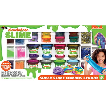 Nickelodeon Super Slimy Combo Studio 2+lbs of slime and 20+ mix ins
