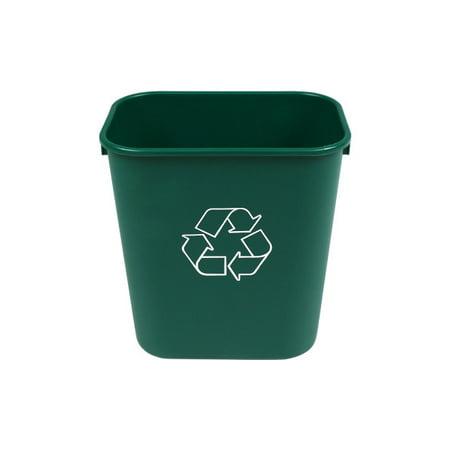 Busch Systems 14 Quart Deskside Recycling & Waste Basket Indoor Bin - 3.5 G - Dark Green - Mobius Loop - image 1 of 2