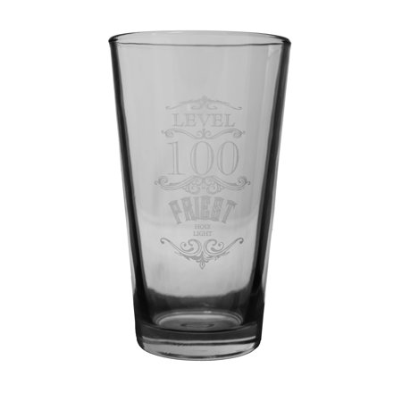 16oz WOW Level 100 Priest Beer Glass