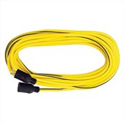Voltec 05-00333 100 ft. SJTW Yellow-Black - Locking Extension Cord, Case Of 1