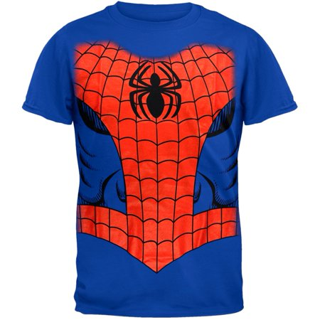 Marvel Spider-Man Spidey Costume Jumbo Men's Graphic Tee - Spiderman Outfit Mens