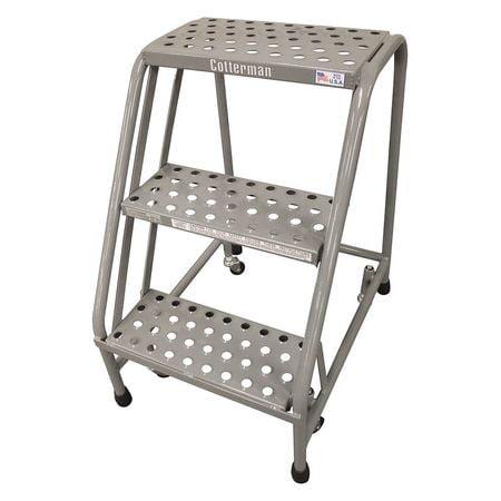 Cotterman 1003N1820A2E10B3C1P1 Rolling Ladder,30 in.H x 2...