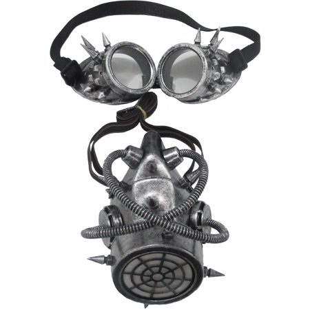 Gas Mask and Goggles Adult Halloween Accessory