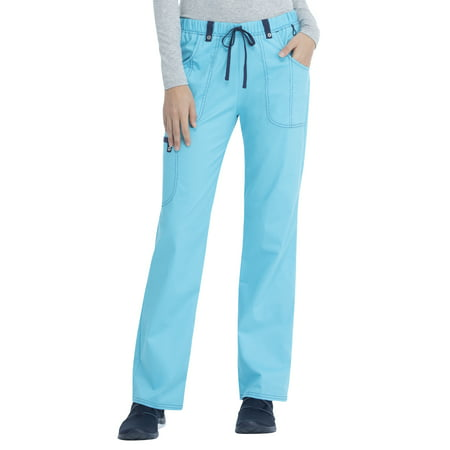 7ee52f48428 Scrubstar Women's Stretch Twill Color Accent Drawstring Cargo Scrub Pant  Image 1 ...
