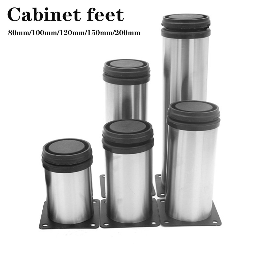 Cabinet Adjustable Furniture Stainless Steel Kitchen Feet Metal Legs Tools LS