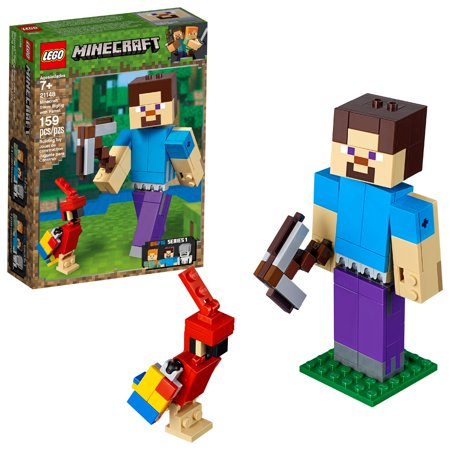 LEGO Minecraft Steve BigFig with Parrot 21148](Minecraft Cake Supplies)