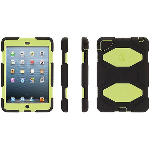 Griffin Technology Black/Citron Survivor Case for iPad mini  MSS151890H01 shattr