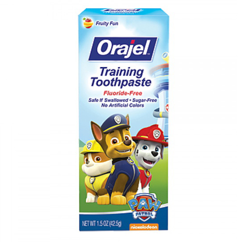 Orajel Toddler Training Toothpaste For Cleaner Teeth, Tooty Fruity - 1.5 Oz, 2 Pack