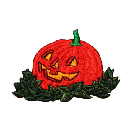 ID 0805 Happy Jack O Lantern Patch Halloween Fall Embroidered Iron On - Jack Happy Halloween