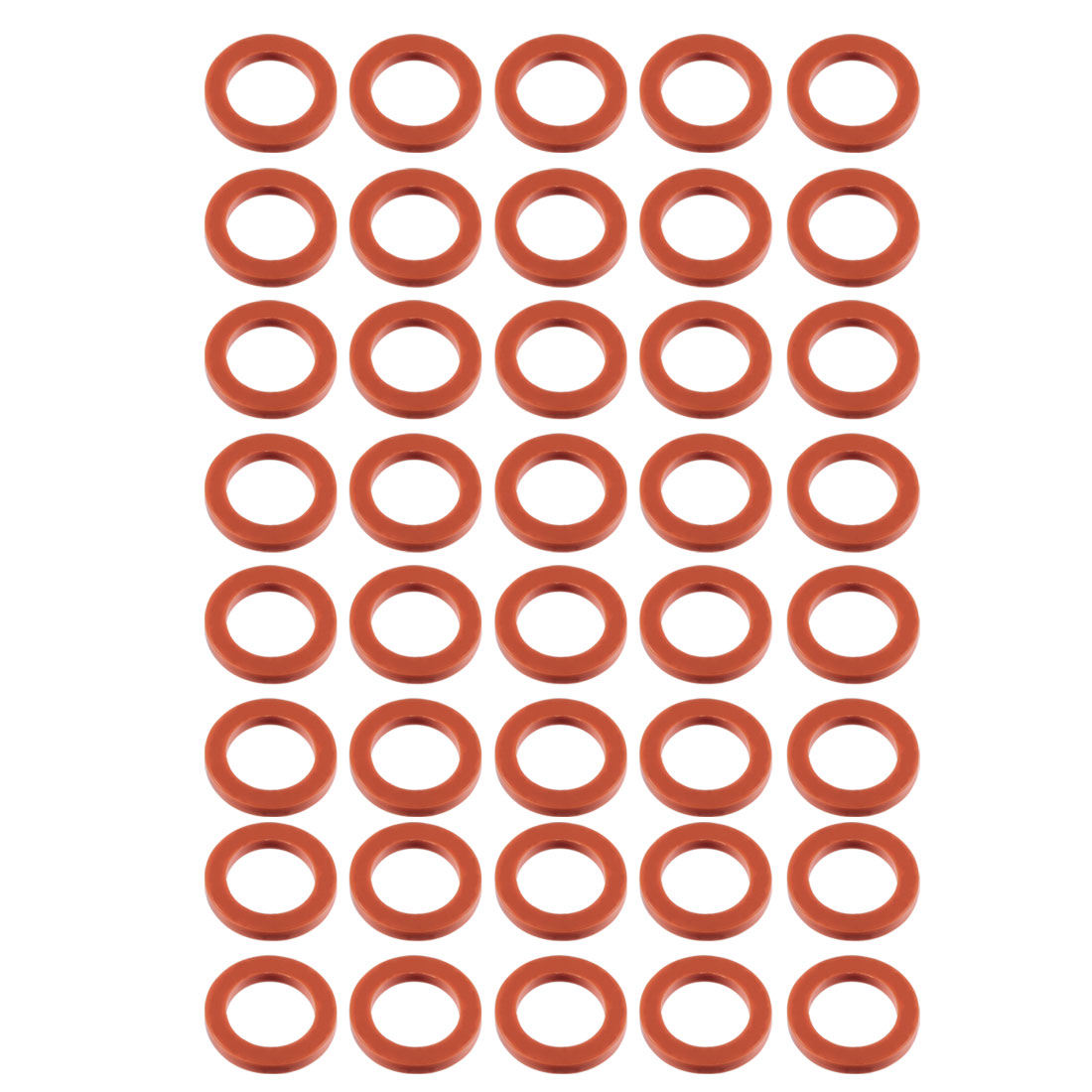 40pcs Red Silicone Round Flat Washer Assortment Size 16x24x3mm Flat Washer - image 2 of 2