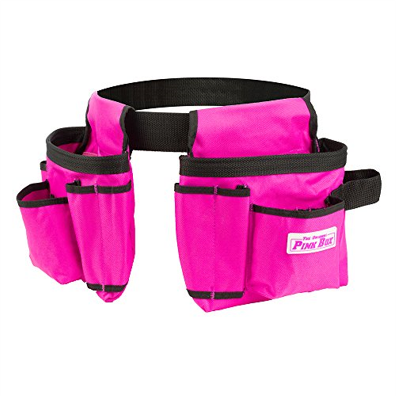 The Original Pink Box PB2BELT Tool Belt, 10 Pockets, Pink