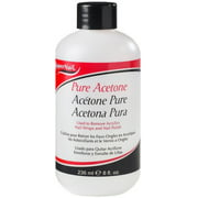 Super Nail Pure Acetone Polish Remover, 8 oz (Pack of 2)