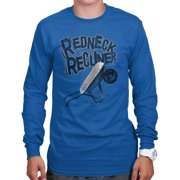 Redneck Recliner Funny Country Shirt   Cowboy Cool Gift Idea Long Sleeve Tee