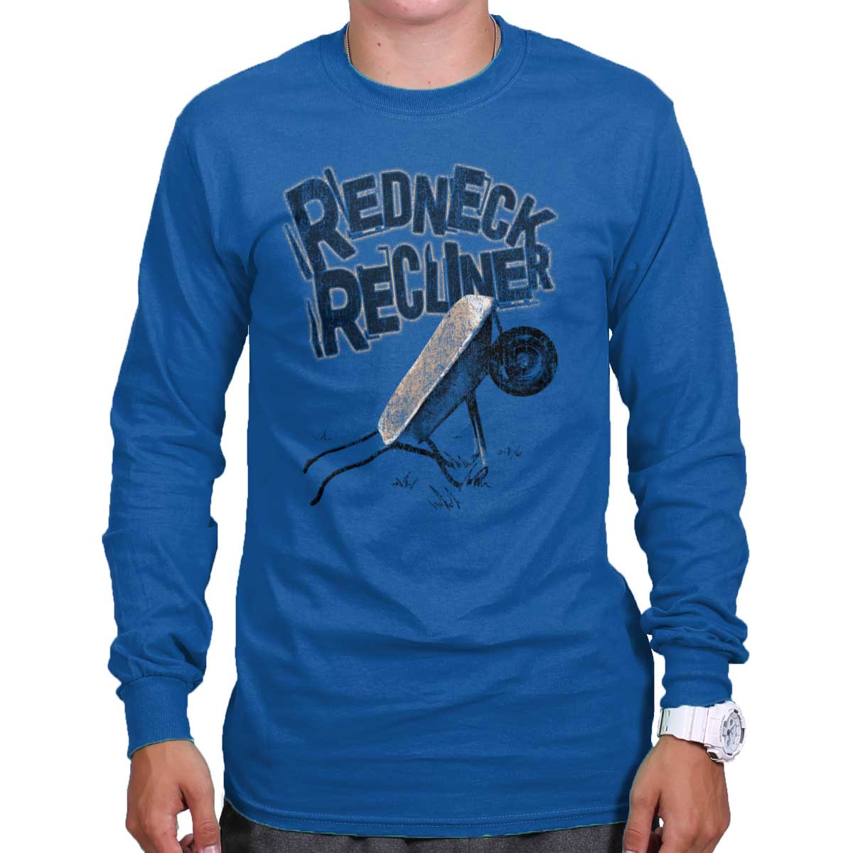 Redneck Recliner Funny Country Shirt | Cowboy Cool Gift Idea Long Sleeve Tee