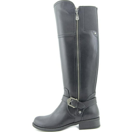 Riding Knee High (G by Guess Womens HAILEE Leather Closed Toe Knee High Riding Boots)
