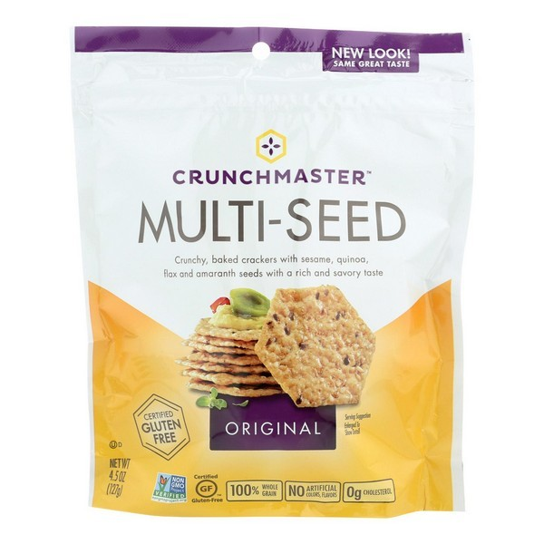 Crunchmaster Multi-seed Crackers - Original - pack of 12 - 4.5 Oz.