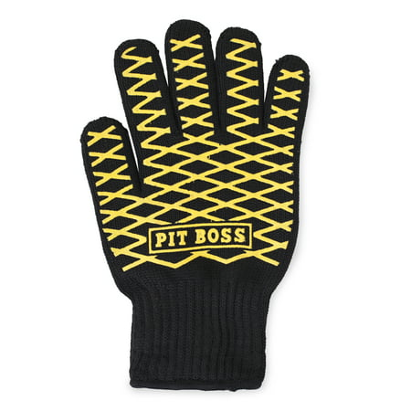 Heat Resistant BBQ Grill Glove w/ Silicone Grip