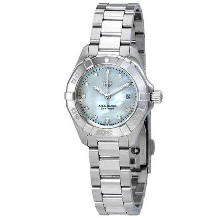Tag Heuer Womens Aquaracer Diamond Watch (Tag Heuer  Women's WBD1414.BA0741 'Aquaracer' Diamond Stainless Steel Watch )