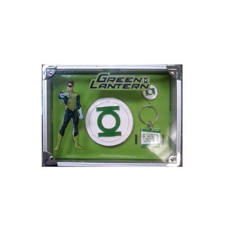 Green Lantern Gift Set with belt buckle, ring, and keychain