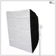 """24"""" Square Diffusion Fabric Silver Interior Softbox with Carry Bag for Photography and Video Lighting by Loadstone Studio  WMLS1103"""
