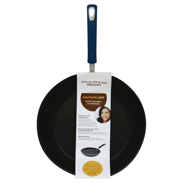 "Rachael Ray Hard Enamel 12.5"" Non-Stick Blue Skillet, 1 Each"