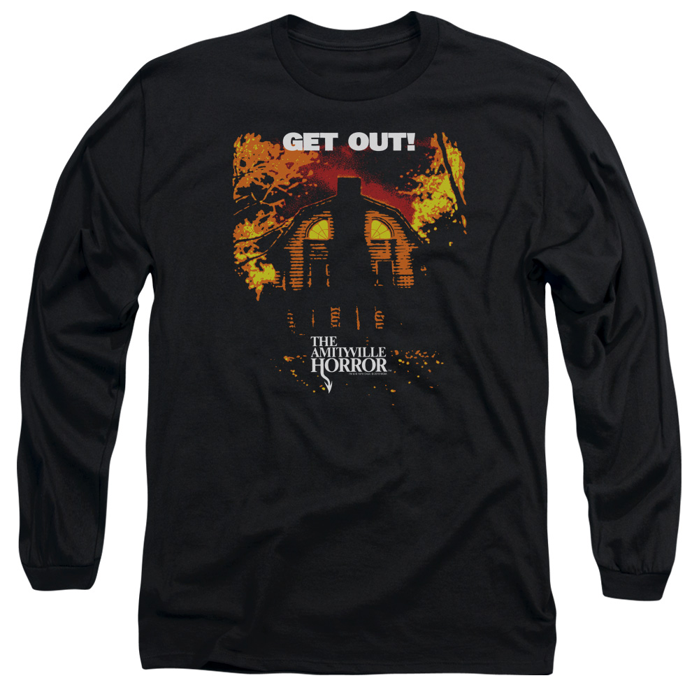Amityville Horror Get Out Mens Long Sleeve Shirt