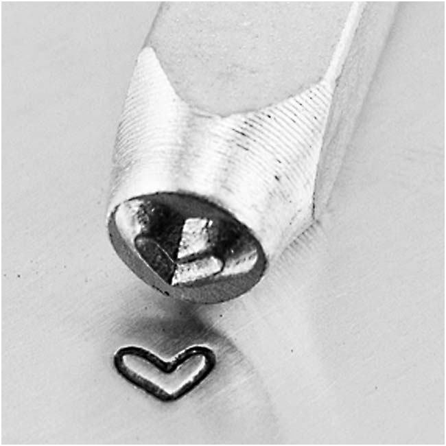 ImpressArt Metal Punch Stamp 'Whimsy Heart' 3mm (1/8 Inch) Design - 1 Piece