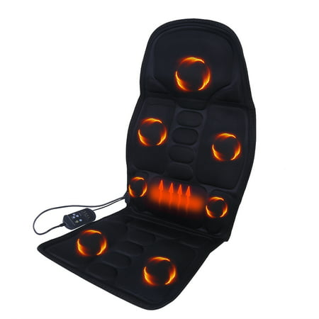 Image of 8 Mode 3 Intensity Car Back Massager Car/Home Chair Seat Massager Back Neck Shoulder Thigh Massage Cushion with Heat for Car Home Office