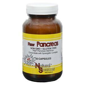 NATURAL SOURCES Raw Pancreas 50 CAP Raw Pancreas Concentrate
