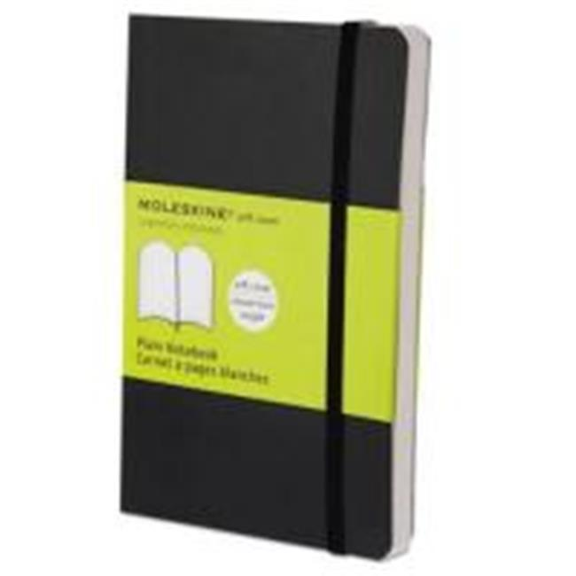 Hachette Book Group MS717 Plain Classic Softcover Notebook 55 X 35 In Black Cover