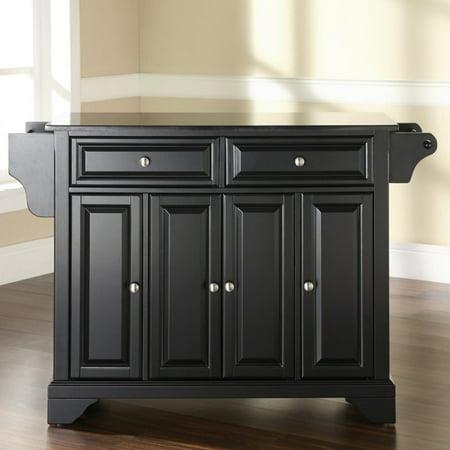 Crosley Furniture LaFayette Solid Black Granite Top Kitchen Island