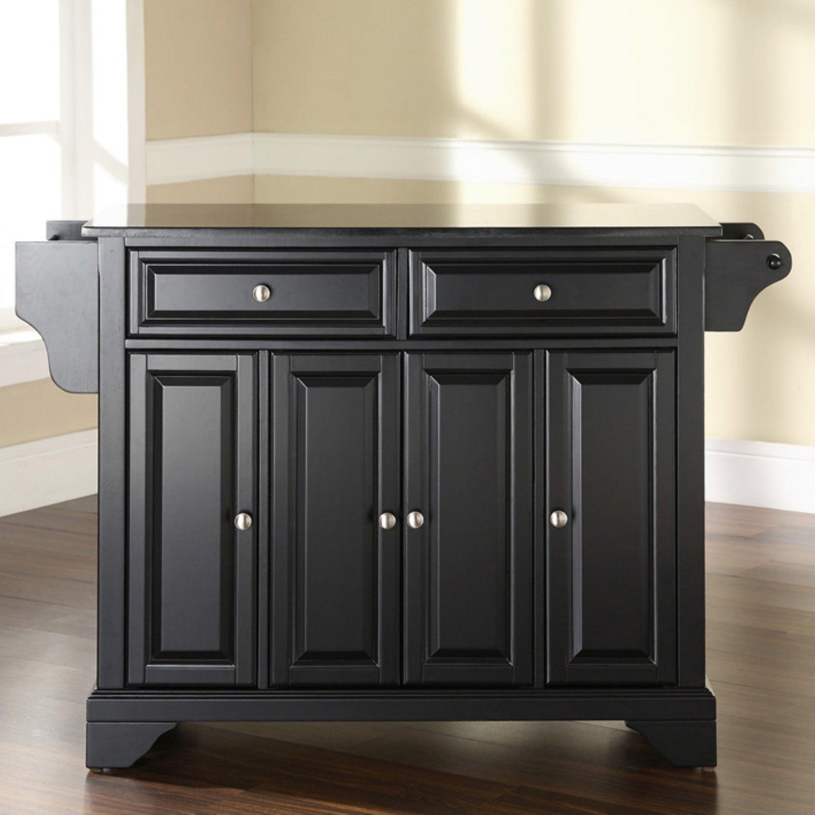Crosley Furniture Lafayette Solid Black Granite Top Kitchen Island Walmart Com