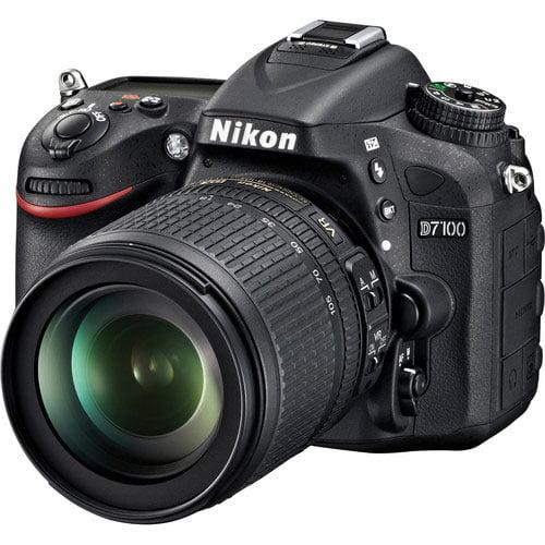 Nikon Black D7100 Digital SLR Camera with 24.1 Megapixels and 18-105mm Lens Included