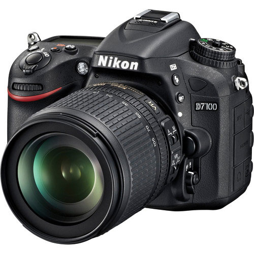 Nikon Black D7100 Digital SLR Camera with 24.1 Megapixels and 18-105mm Lens Included