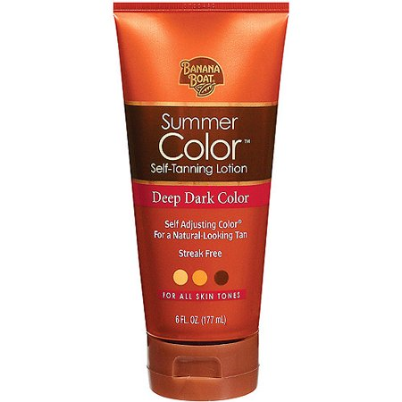 Banana Boat Summer Color Self-Tanning Lotion Deep Dark Color - 6 Ounces