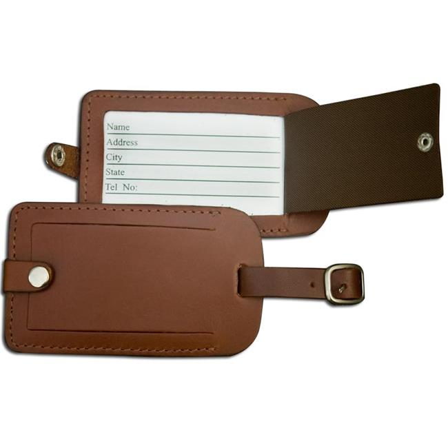 Dacasso Limited A3298 Rustic Brown Leather Luggage Tag