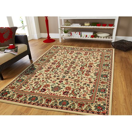 Cream Persian Area Rugs For Living Room 8X11  Large Traditional Rug On Clearance